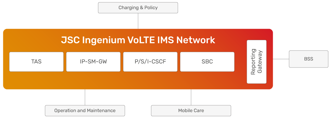 JSC Ingenium - Technology: VoLTE IMS network